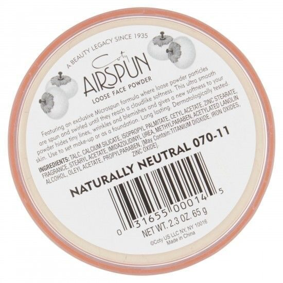 РАССЫПЧАТАЯ ПУДРА COTY AIRSPUN LOOSE FACE POWDER 070-11 NATURALLY NEUTRAL:
